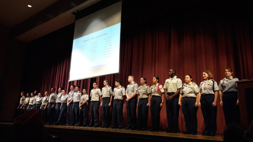 AUSA Chapter President and VP JROTC Programs attended the JROTC Ceremony at Steinbrenner High School